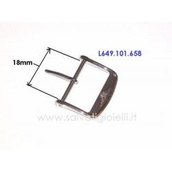 LONGINES fibbia 18mm ORIGINALE L649101658 boucle hebilla Dornschließe L649.101.658