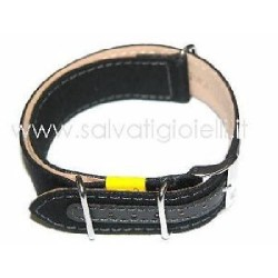 MORELLATO cinturino nero canvas canvass black strap nato x HAMILTON 18mm