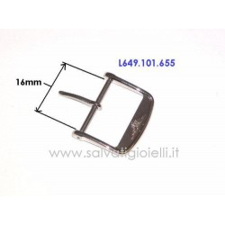 LONGINES fibbia 16mm acciaio ORIGINALE L649.101.655 boucle - hebilla - Dornschließe L649101655