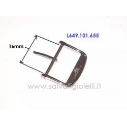 LONGINES steel buckle 16mm ORIGINAL L649.101.655 boucle hebilla Dornschließe L649101655