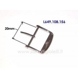 LONGINES fibbia 20mm ORIGINALE L649.108.156 boucle - hebilla - Dornschließe L649108156