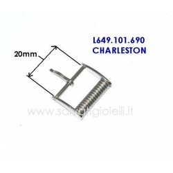LONGINES fibbia 20mm L649101690 boucle hebilla Dornschließe Modello Charleston L649.101.690