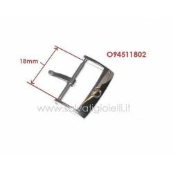 OMEGA ref. 94511802 buckle 18mm ORIGINAL steel - boucle - hebilla - Dornschließe