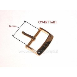 OMEGA ref. 94511601 plated buckle 16mm ORIGINAL - boucle - hebilla - Dornschließe