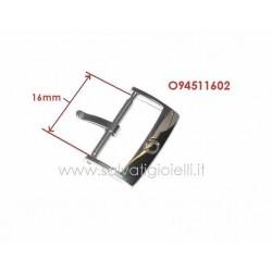 OMEGA ref. 94511602 steel buckle 16mm GENUINE - boucle - hebilla - Dornschließe *POLISHED