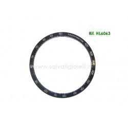 TAG HEUER back insert bezel HL6063 Carrera CV2010 CV2014 CV201.. *only black part