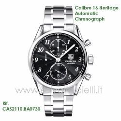 TAG HEUER orologio Carrera Calibre 16 Heritage auto chrono ref. cas2110.ba0730