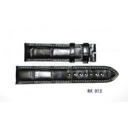 EBERHARD Black crocodile strap 20mm x CHRONO 4 ref. 012 per ref: 30058, 30158, 31041