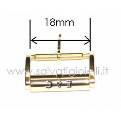 EBERHARD buckle 18mm plated GENUINE boucle hebilla Dornschließe