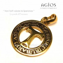 AGIOS Coin in Silver 925% burnished gilded 21mm (Medium)