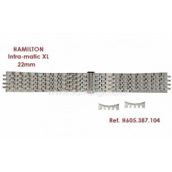 HAMILTON bracelet INTRA-MATIC 22mm H695.387.102 H695387102 (ex H605.387.102) for H387550 H38755151 H38755131