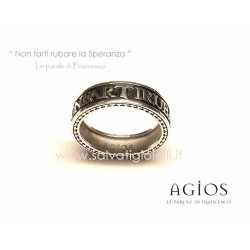 AGIOS Silver ring 925 % Burnished Rhodium plated size 21