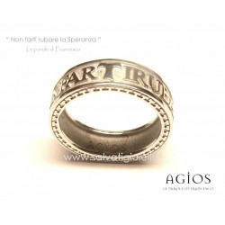AGIOS Silver ring 925 % Rhodium plated size 19