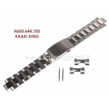 HAMILTON cinturino bracciale KHAKI KING bracelet H605.644.103 strap H605644103 x H644510