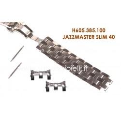 HAMILTON cinturino bracciale JAZZMASTER SLIM 40 H605.385.100 bracelet H605385100 x H385150, H386550