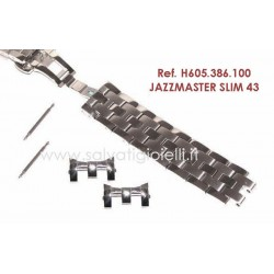 HAMILTON bracelet JAZZMASTER SLIM 43 .H605.386.100 H605386100 x H386150