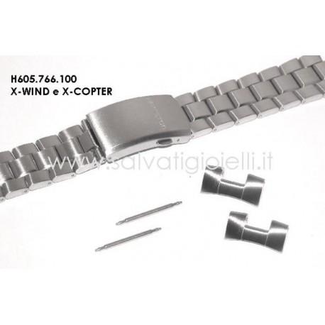HAMILTON cinturino bracciale X-Wind steel bracelet H605.766.100 strap H605766100 x x H776160 H776260