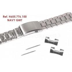 HAMILTON cinturino bracciale NAVY GMT bracelet H605.776.100 strap H605776100 ref. H776151 H776650 H776450 H776350