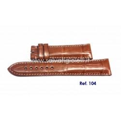 EBERHARD brown crocodile strap x TAZIO NUVOLARI GRAND TAILLE 31036 31038 ref. 104