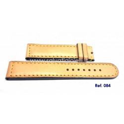 EBERHARD Beige/blue strap for tazio nuvolari vanderbilt ref. 084 20mm x 31045