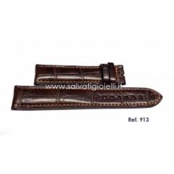 EBERHARD dark brown croc strap EXTRA FORT 19mm ref. 913 (x 40033 40035 40036 40136 41018 41024 41028 41029 49036)