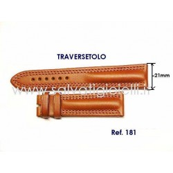 EBERHARD brown leather strap x TRAVERSETOLO 21mm ref 181 x ref: 20019 - 20020 - 21016 - 21019 - 21020 - 21216
