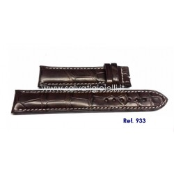 EBERHARD dark brown crocodile strap x EXTRA FORT  19mm ref. 933 ( per ref:  32033, 32120, 41018, 41024, 41028, 41029 )