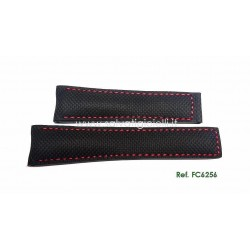 TAG HEUER CARRERA 22mm black carbon fiber pattern strap FC6256 for deployante FC5037 or FC5039