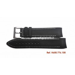 HAMILTON rubber strap NAVY GMT H600.776.100 white sewing H600776100 ref. H776152, H776220, H776120, H776151, H776150