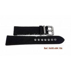HAMILTON Black canvas H600684106 strap 20mm H600.684.106 ref H694190 H982113 H974513 H974517 H974537 H858737 H877510 H684810