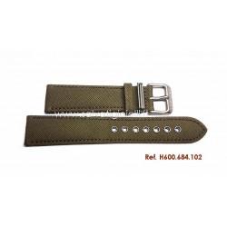 HAMILTON green canvas strap 20mm H600.684.102 H600684102 ref H694190 H982113 H974513 H974517 H974537 H858737 H877510 H684810