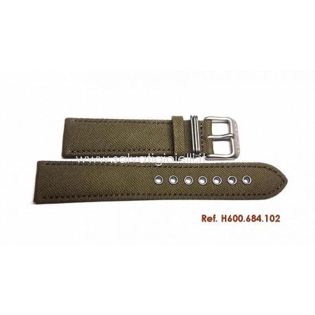 HAMILTON canvas strap 20mm H600.684.102 H600684102 ref H694190 H982113 H974513 H974517 H974537 H858737 H877510 H684810