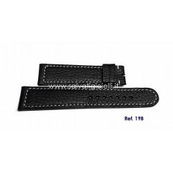 EBERHARD black leather strap ORIGINAL CHAMPION V ref. 198 ( for ref. 41031)