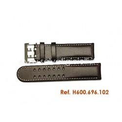HAMILTON ORIGINAL Khaki field officer brown strap 22mm H600.696.102 ref H600696102 x H696190