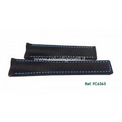 TAG HEUER black textile fabric strap AQUARACER 21mm ref. FC6363 for ref. WAY211B WAY211..