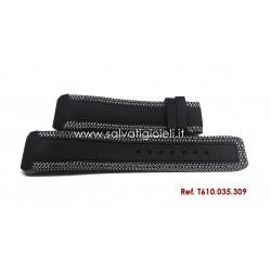 TISSOT T-TOUCH Expert Solar Black leather strap 22/20 mm ref. T610.035.309 T610035309