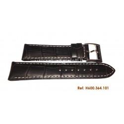HAMILTON dark brown strap H600364101 JAZZMASTER Tonneau 22mm H600.364.101 ref. H364150, H364120, H326120, H325850