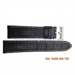 HAMILTON black strap JAZZMASTER Tonneau 22mm H600.364.102 - H600364102 for H364150 H326120 H364120