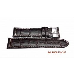 HAMILTON cinturino coccodrillo 21mm GMT, ETO strap H600.776.107 ref. H600776107 x H776150 H775650 H776151