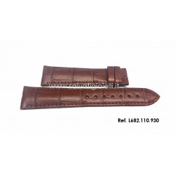 LONGINES brown strap 19mm L682.110.930 alligator L682110930