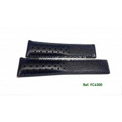 TAG HEUER cinturino blù MONACO blue calf strap 22mm ref. FC6300 ( CAW211D )