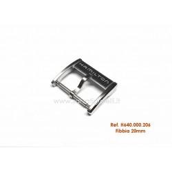 HAMILTON steel buckle 20mm ORIGINAL boucle bebilla Dornschließ H640.000.206