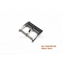 HAMILTON steel buckle 18mm ORIGINAL - boucle - bebilla - Dornschließe H640.000.205