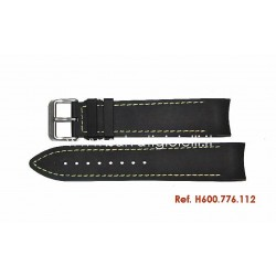HAMILTON black rubber strap KHAKI NAVY GMT  H600.776.112 H600776112 for H776450