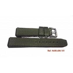 HAMILTON green/brown nylon/leather strap Khaki Field series H600684101