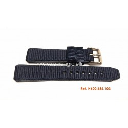 HAMILTON Blue nylon/leather strap Khaki Field series H600684103
