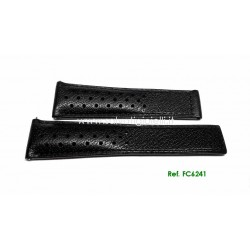 TAG HEUER cinturino nero MONACO black calf strap 22mm ref. FC6241 x ref: WW21..,CW211.., CAM211..