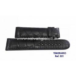 EBERHARD Black crocodile strap 20mm CHRONO 4 TEMERARIO ref. 031 for ref. 31047