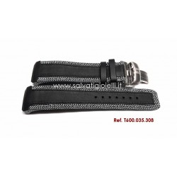 TISSOT T-TOUCH Expert Solar Black leather strap 22/20 mm with titanium depolyante ref. T600.035.308 T600035308