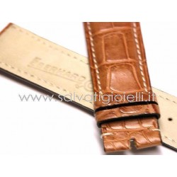 EBERHARD Light brown crocodile strap x CHRONO 4 -  20mm rif. 014 ( x ref. 30058, 30064, 31041, 30158 )